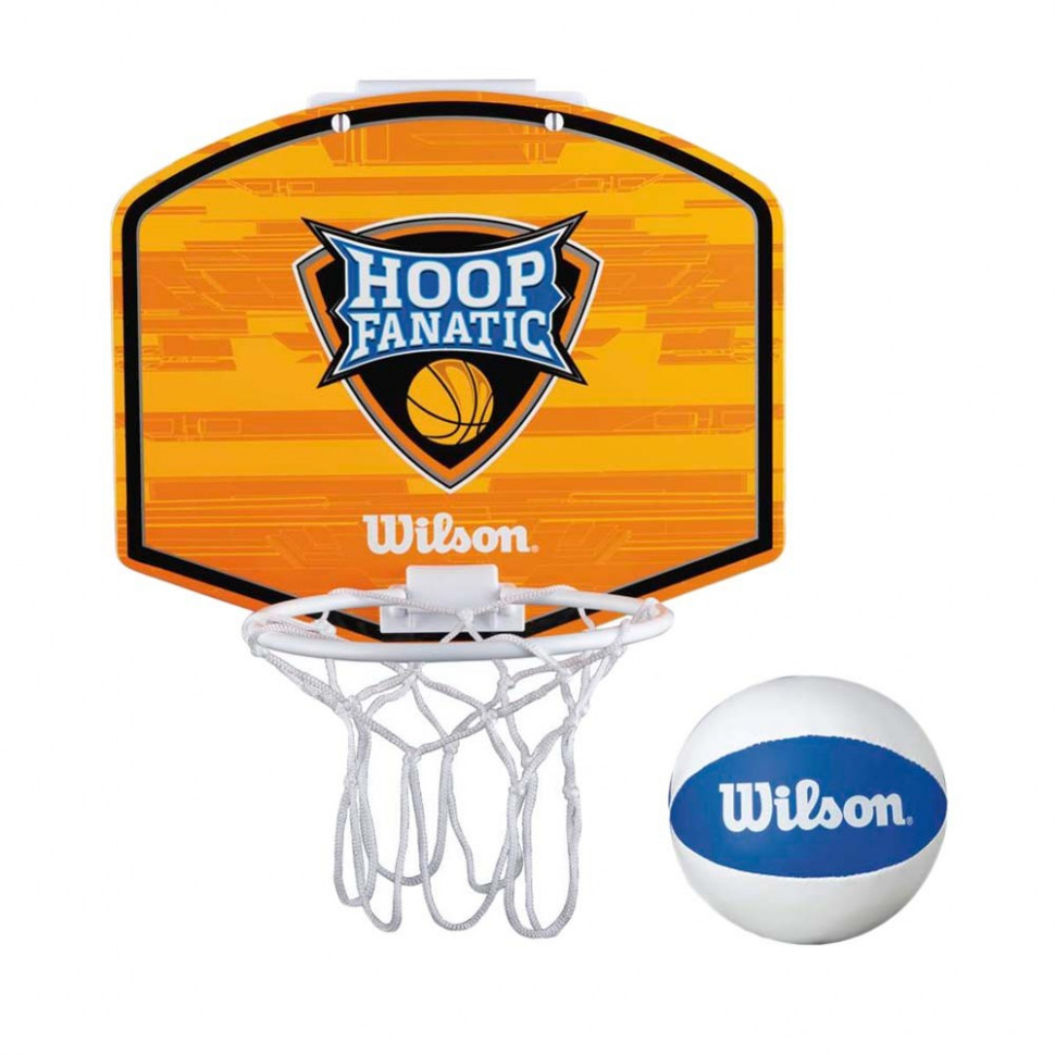 3c2ebb21 Набор для мини-баскетбола Wilson Hoop Fanatic Mini hoop kit, арт.  WTBA00435, щит с кольцом, мяч р.1